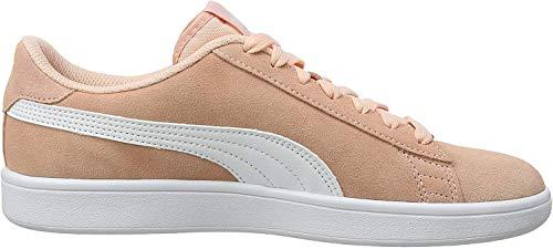 Puma Unisex-Kinder Smash v2 SD Jr Sneaker, Violett (Peach Bud-Puma White), 38 EU