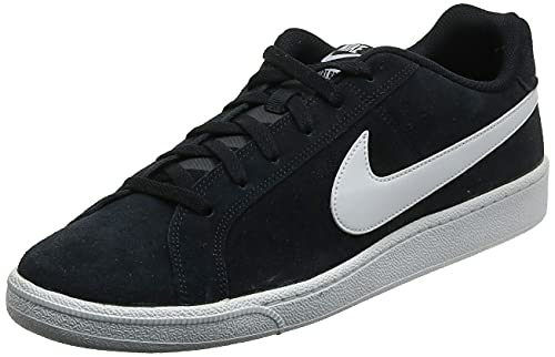 Nike Court Royale Suede - Sneakers Basses - Homme, Multicolore (Black / White), 38.5 EU