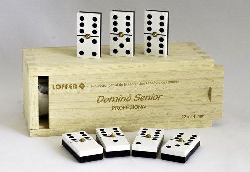 Loffer - Dominó Profesional Senior, Caja de Madera (Domarch A352M)