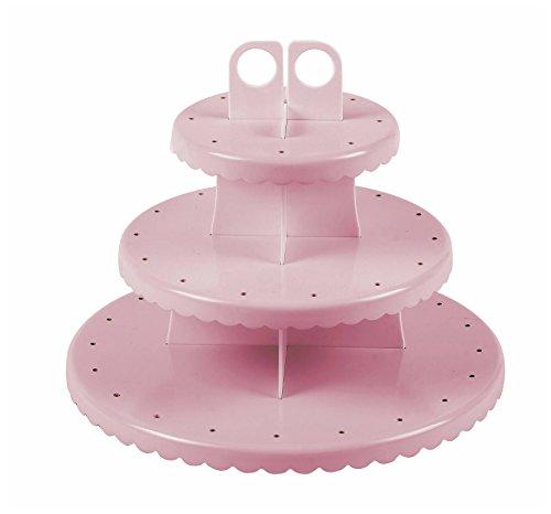 Ibili 827600 Etagere, ideal für Cupcakes / Cakepops, Kunststoff, Löcher für 48 Stäbe