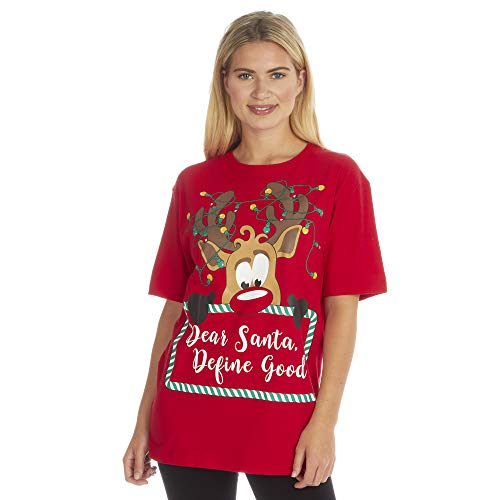 Regalo Navidad Novedad Camisetas Hombre Divertido Navidad Algodón Estampado Camiseta Nuevo Tallas Grandes - CREER,...