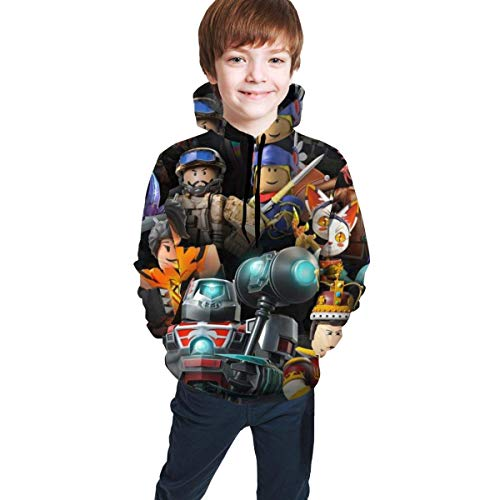 maichengxuan Ro-blox Unisex Hoodies for Kids Teen Boys Girls 3D Prints Pullover Hooded Sweatshirts with Pocket