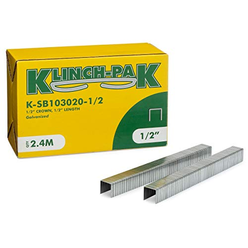Klinch-Pak K-SB103020-1/2 1/2' Crown Staples, 2400 Per Package