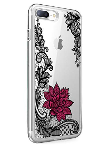 Suhctup Schutzhülle für iPhone 6+/6S+ Plus, transparent, aus weichem TPU-Silikon, ultradünn, stoßfest