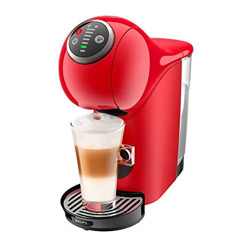 Krups Genio S Plus KP3405 cafetera automática, 15 bares de presión diseño compacto y elegante, espresso, cappuccino, sistema Thermoblock, calentamiento rápido, 35 variedades de café a elegir, rojo