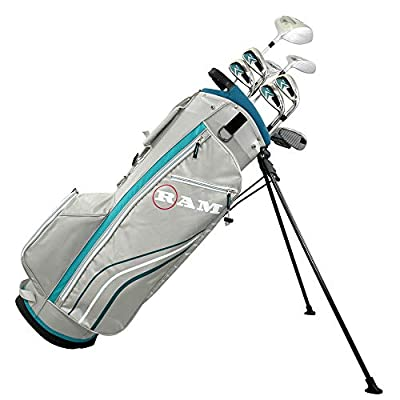 Ram Golf Accubar Golf Clubs Set - Graphite Shafted Woods and Irons - Ladies Right Hand