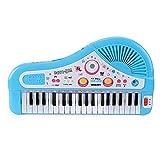 Juguete musical para niños de 37 teclas, piano eléctrico, juguete musical, con micrófono, para niños y niñas de más de 3 años