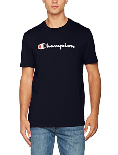 Champion Herren T-Shirt Crewneck T-shirt - Institutionals, Blau (Nny), Small