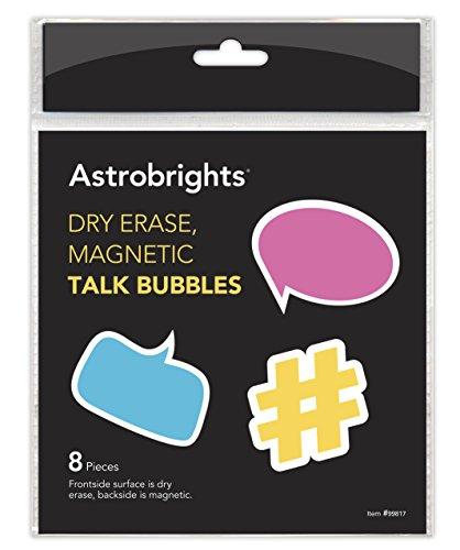 Astrobrights Teacher Decor, Dry Erase, Magnetic Talk Bubble, 8 pieces (99817-01)