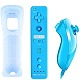 QUMOX 2in1 Remote MotionPlus Controller Mandos + Nunchuk para Nintendo Wii/Wii U