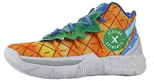 Femme Hombre 5 V Basketball Zapatillas Running Zapatos Black Sneaker Bandulu Spongebob Squarepants Squidward Pineapple House Patrick Blanco BHM Shoe