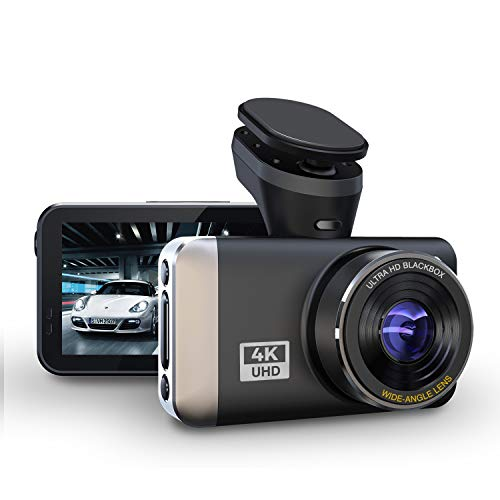 """【2020 New 4K】 JOMISE Dual Dash Cam 2K&1080P, UHD 4K Max, Built in WiFi GPS Driving Recorder with 3.0"""" LCD 170° Wide Angle WDR G-Sensor Night Vision Motion Detection Parking Monitor Support 128GB Max"""