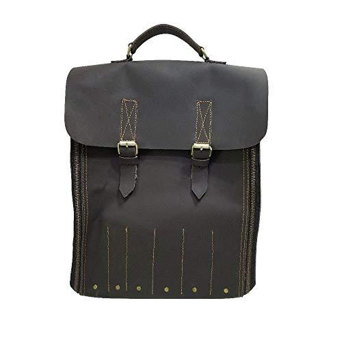 Travel-Friendly Chef Knife Wrap Bag | Genuine Leather Knife Roll | Storage Bag Handles Carry Case Kitchen | travel bag knives holder | KB013