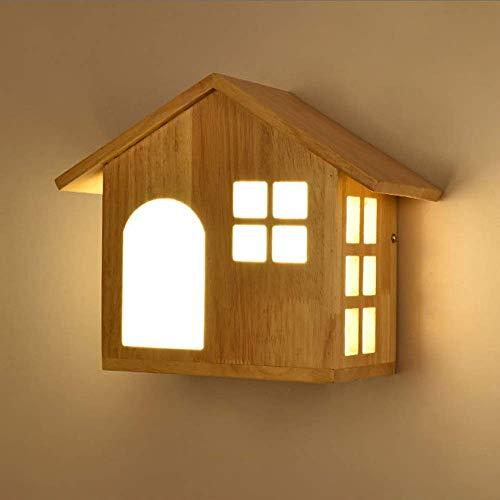 CHOUCHOU Apliques Pared LED Inicio Casa del Pasillo del Pasillo Lámpara de Pared de Comedor Sala de Estar Dormitorio Estudio Balcón Escaleras de Madera acrílico Calentar Amarillo Simple luz Moderna