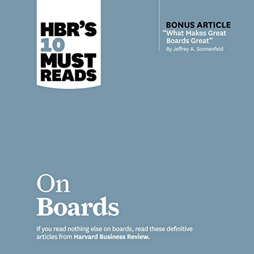 HBR's 10 Must Reads on Boards cover art