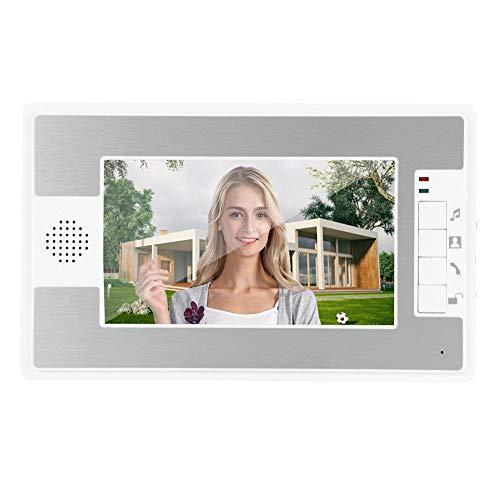 Videodoorphone, 7 inch TFT LCD-scherm Bedraad video-intercom Deurbelsets, HD-camera Deurbel IR Nachtzicht Camera Deurintercom Huisbeveiliging Toegangssysteem Ondersteuning Afstandsbediening(EU)
