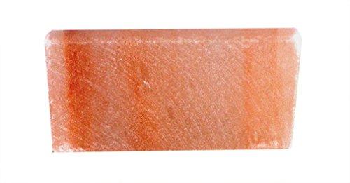 HIMALAYA SALT DREAMS Salzkristall Mauerstein/Ziegel ca. 2,5 x 10 x 20 cm, Kristallsalz aus Punjab/Pakistan, Orange, 20 x 10 x 2,5 cm