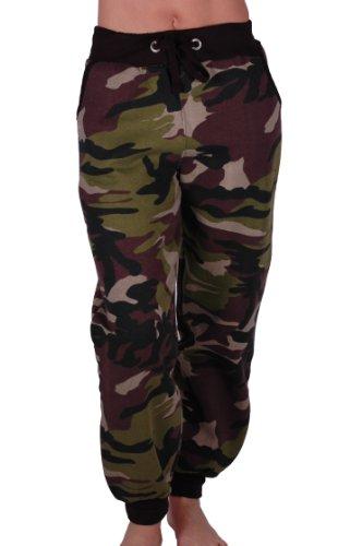 EyeCatch - Damen Casual Army Military Tarnung Sport Gym Jogger Jogging Damen Trainingshose Medium