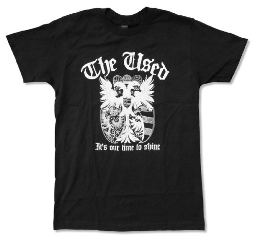 """Adult The Used """"Crest"""" It's Our Time To Shine Black T-Shirt (X-Large)"""