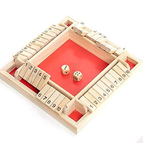 Maril Würfel Nummer Brettspiel Schließen Sie Die Box Holzspiel Shut The Box Brettspiel Holz Nummer Tischspiel 4 Spieler Traditionelles Spiel Würfel Spielzeug Für Kinder Decent