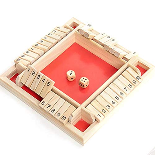 Huaxingda Juego de dados de Shut The Box Matemáticas Tradicional Pub Board...