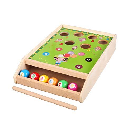 Toyvian Mini Juego de Mesa de Billar Juego de Clasificación de Colores de Madera para Niños Niños