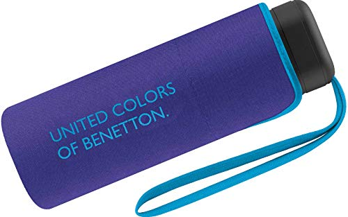 Cuatrogotas 56422 Paraguas Benetton Plegable Mini Azul 88cm, Varios, Talla única
