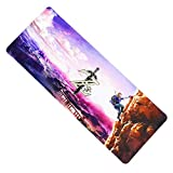 Fzaqua Extended Gaming Mouse Pad-Rubber Base with Anti-Fray Cloth Speed Soft Gamer Mouse Pad 31.5Lx11.8Wx0.12H (Zelda)