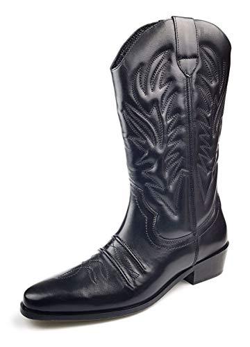 Gringos Men's KANSAS Western Cowboy Boots 9 UK Black