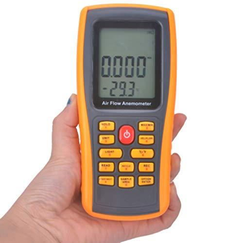 Zcyg Anemometer Wind Speed Meter Hochpräzisions-Digital-Anemometer LCD Windgeschwindigkeit Messgerät Handklimafließgeschwindigkeitsmessung Thermometer Geräte