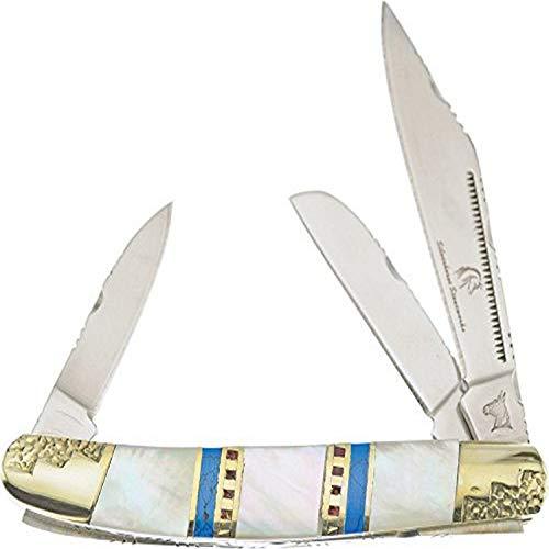 Frost Cutlery Couteau de Poche Silverhorse Wrangler Mop Longueur fermé 8,57 cm