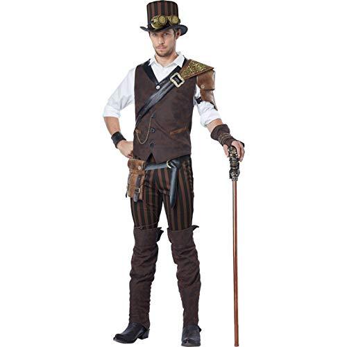 California Costumes Men's Steampunk Adventurer Costume, Brown, Large