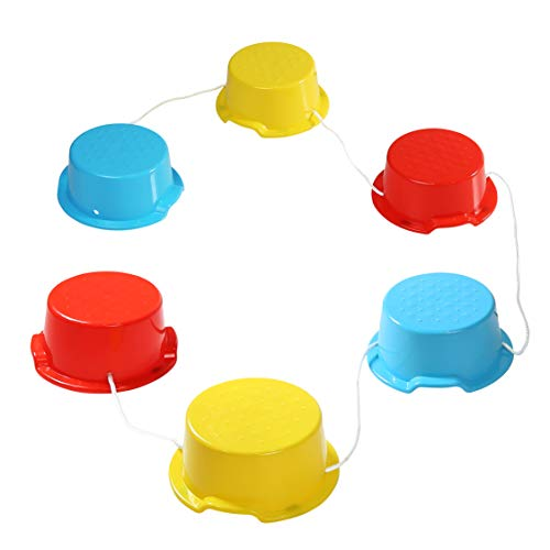 Milliard Kid's Stepping Balance Buckets 6-Pack with Anti-Skid Pads, Stackable Gross Motor, Coordination, Exercise Fun, Balancing for Home and School