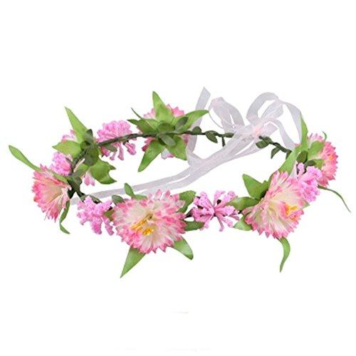 Sch?ne Handcrafted Haar Crown Kopfbedeckung Meer Blumen Kranz, Rosa