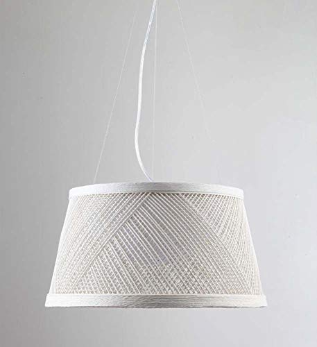 Lage prijs tafellamp bedlampje kristallen kroonluchters plafondlamp wandlamp LED kroonluchter, handgemaakte hennep rotan hanglamp, Idyllische eetkamer bar ronde pendellamp Weiß40cm * 22cm