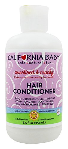 California Baby Overtired and Cranky Hair Conditioner (8.5 ounces) | Deep Conditioning and Soft Detangling Hair Care for Infants, Newborns and Toddlers | Leave In and Rinse Out