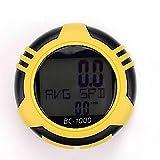 U/H Ciclocomputador de 10 funciones, velocímetro para bicicleta de carretera, accesorios para equipo de ciclismo, cuentakilómetros, impermeable, cuentakilómetros, ciclismo, amarillo