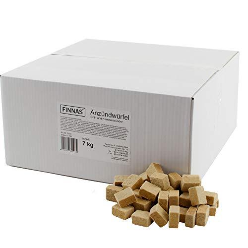 7 kg FINNAS Premium Öko-Kaminanzünder Anzündwürfel Grillanzünder Anzünder Ofenanzünder Feueranzünder Holz-Wachs-Anzünder Holzanzünder Ofen Kaminofen Kaminanzuender Kaminofenanzünder Fire Starter