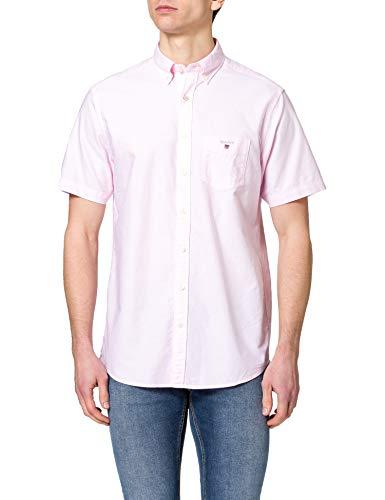 GANT Herren REG Oxford Shirt SS BD Hemd, Light PINK, XXL