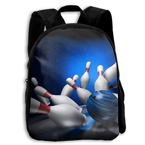 ADGBag Children Boys Girls Bowling Pins Pattern Backpack Shoulder Bag Book Scholl Travel Backpack Kinderrucksack Rucksack