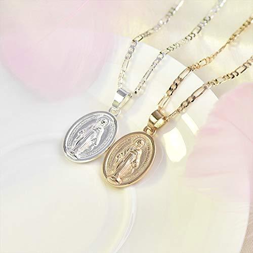 Collar Jewelry Colgante Religión Jesús Virgen María Collar De Cadena Mujer Mujer Retro Orar Joyas Regalo Colgantes Collares Moda Damas Regalos Cristianos Oro