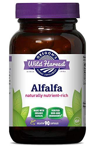Oregon's Wild Harvest Non-GMO Alfalfa Capsules Organic Herbal Supplements, 90 Count