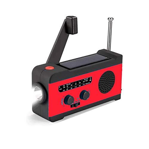 Sdesign 太陽ハンドクランクラジオ、LED懐中電灯2000mAhバッテリー(含まれていない)付きの多機能天気緊急ラジオ(含まれていない) ジェネリック
