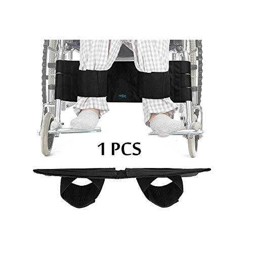 Rollstuhl Fußstütze Bein Gurt Sicherheitsgurt verstellbar Sicherheit Fuß Unterstützung Zurückhaltung für Behinderte Patienten, ältere & Senioren (Schwarz)