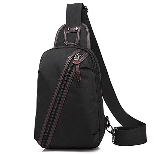 2018 hommes oxford poitrine sac, An-vol sac à bandoulière Crossbody Sling sacs à dos Messenger Bag sac à dos pour entreprise Casual Sport randonnée voyage, noir