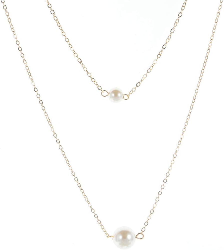 YIZHEN Tiny Single Pearl Choker Necklace Gift for Women Girls