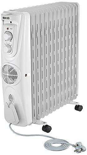 Usha 3809 F 2000-Watt Oil Filled Radiator (White)