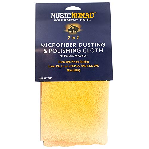 MusicNomad MN230 Microfiber Dusting and Polishing Cloth for Pianos and Keyboards