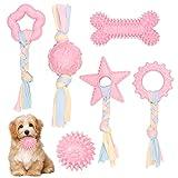 O-Kinee Juguetes Interactivos Conjunto, 6PCS Juguetes para Perros Cachorros, Juego de Juguete para la dentición del Perro, Juguetes Perros para Perros Grandes, Medianos y Pequeños