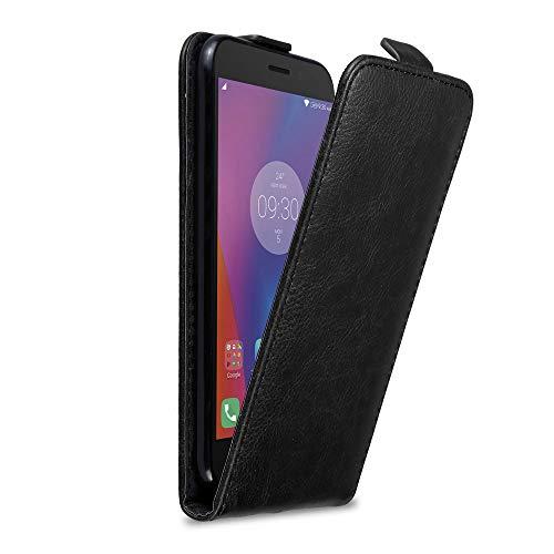 Cadorabo Hülle für Lenovo K6 / K6 Power in Nacht SCHWARZ - Handyhülle im Flip Design mit Magnetverschluss - Hülle Cover Schutzhülle Etui Tasche Book Klapp Style